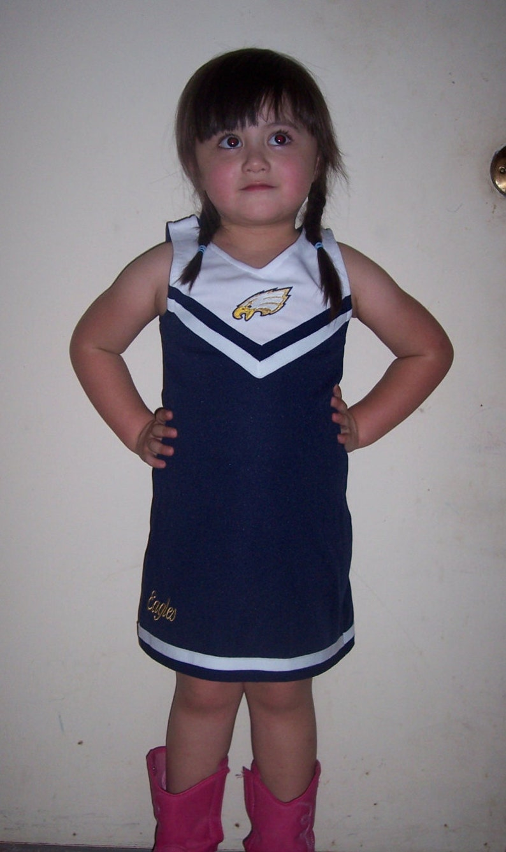 e55a6f76db6 Cheerleader Uniform Fun Halloween Costume Kids Child Blue 4 5 12 T