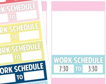 Work Schedule Planner Stickers, Work Stickers, Schedule Stickers, Work Planner Stickers, Schedule Planner Stickers