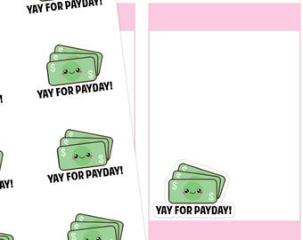 Kawaii Payday Planner Stickers, Payday Planner Stickers, Pay Day Stickers, Kawaii Stickers, Money Stickers