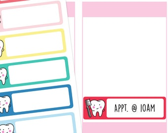 Dentist Appointment Planner Stickers, Dentist Stickers, Appointment Stickers, Medical Stickers