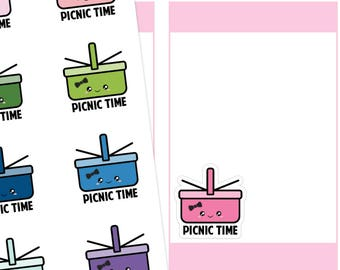 Kawaii Picnic Planner Stickers, Picnic Stickers, Kawaii Stickers, Kawaii Picnic Stickers, Cute Stickers
