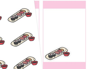Sushi Planner Stickers, Sushi Stickers, Food Stickers, Meal Stickers, Cute Stickers