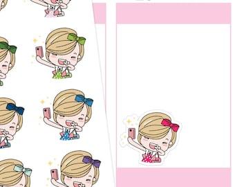 Jenni Selfie Planner Stickers, Selfie Stickers, Instagram Stickers, Social Media Stickers, Cute Stickers