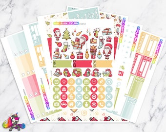 Ho Ho Ho || Planner Sticker Kit, Winter, Christmas, Planner Stickers, Planner Kit, Winter Stickers, Christmas Stickers