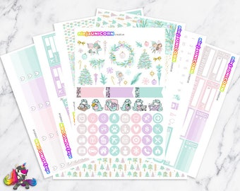 Fa La La La La || Planner Sticker Kit, Winter, Christmas, Planner Stickers, Planner Kit, Winter Stickers, Christmas Stickers