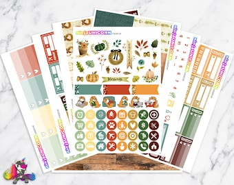 Give Thanks || Planner Sticker Kit, Fall, Thanksgiving, Planner Stickers, Planner Kit, Fall Stickers, Thanksgiving Stickers
