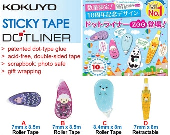 Kokuyo DotLiner Acid-free Glue Roller Limited Edition Zoo Series