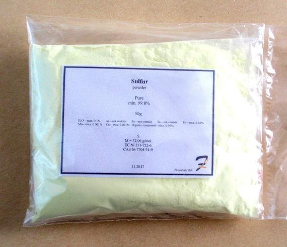 Sulfur powder - 99 98% pure grade element 50g-100g-200g 7704-34-9