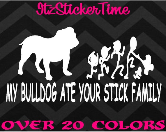 9 MY WIENER DOG ATE YOUR STICK FAMILY FUNNY 7 YEAR VINYL DECAL STICKER