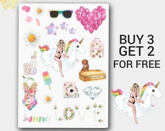 Summer Spirit Sticker, Spring Sticker, Stickers for Erin Condren, Happy Planner, Passion Planner, Filofax, ECLP