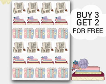 Books Stickers, Books Planner Stickers, Bookworm Sticker, Book Lover Stickers,Library Stamp,Book Stamp, Library Stickers,  Books to Read