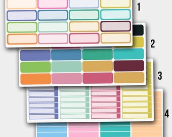 Quarter Box Stickers, Quarter Box Planner Stickers, Quarter Box Erin Condren, Blank Stickers, Blank Planner Stickers,Blank Box Sticker
