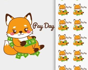 Foxy Payday Stickers, Foxy Stickers, Foxy Pay Day Sticker