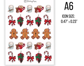 CHRISTMAS GINGERBREAD MEN STICKER WALL DECAL OR IRON ON HEAT TRANSFER LOT GM