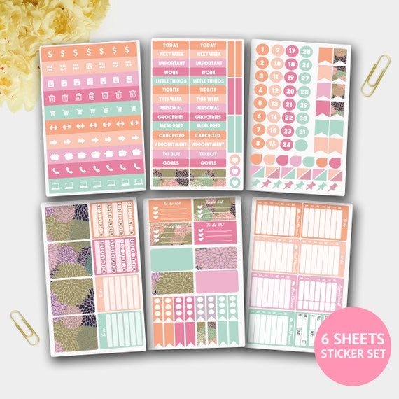 May Monthly Stickers Planner Set Spring Stickers For Etsy