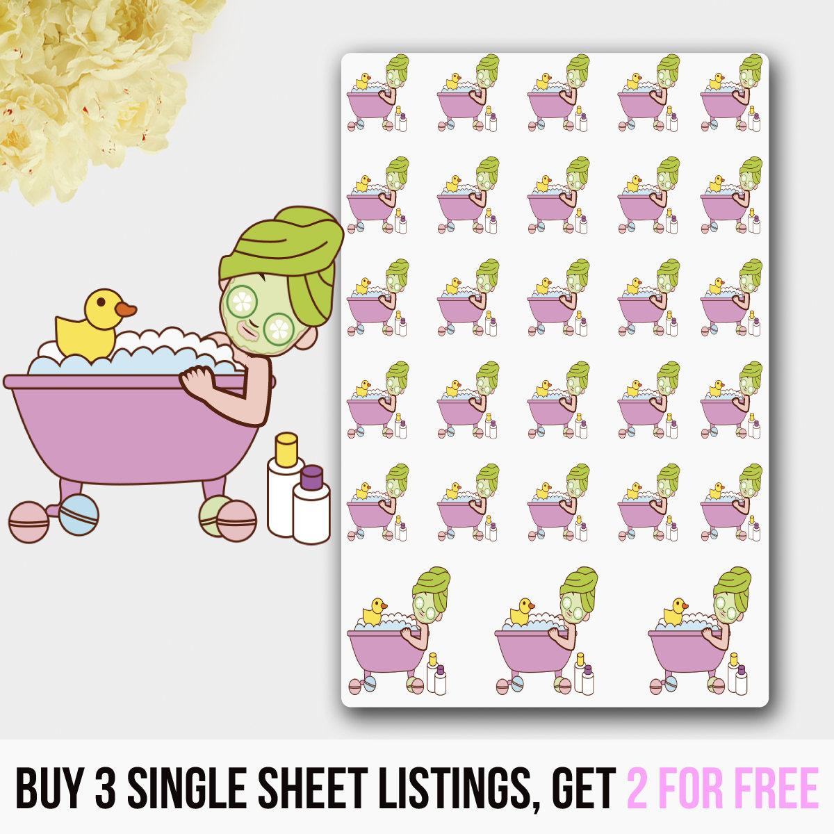 Bath Stickers Tub Stickers Bathtub Stickers Me Time   Etsy