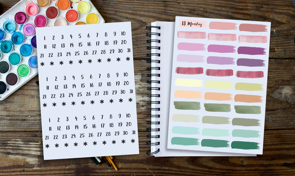 b1d13b7efe Bullet Journal Stickers Sticker Kit Planner Stickers | Etsy