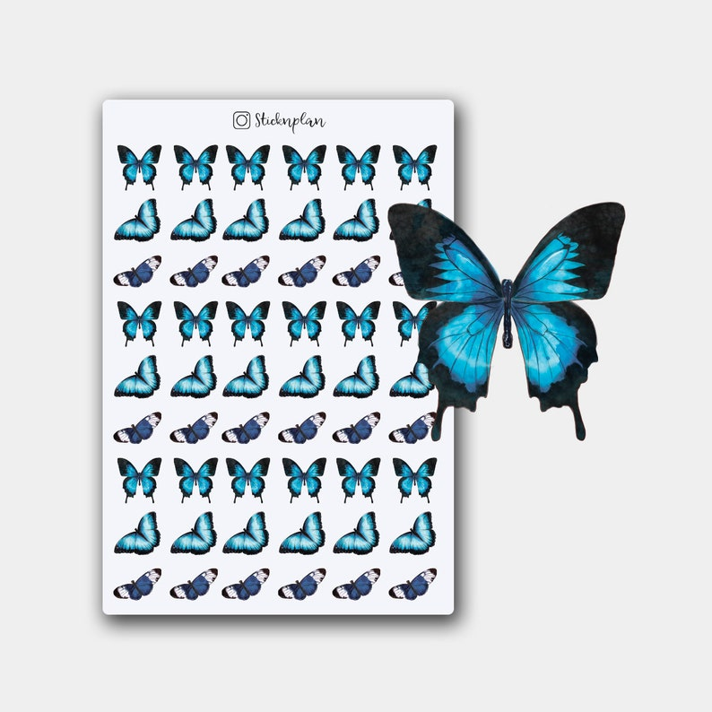 Butterfly Stickers Deco Stickers Something Blue Blue image 0