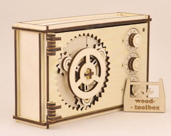 Coded wooden box - Digital files