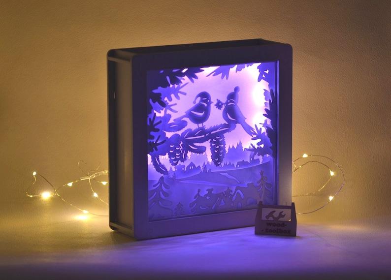 \u2013 Digital files Christmas Lightbox set2 3 pieces