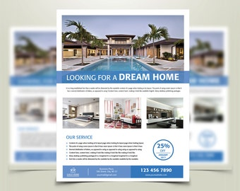 real estate advertising template property advertising etsy
