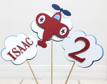 Airplane Centerpieces Set Of 3 Decorations Birthday Party Table Decor Plane Centerpiece