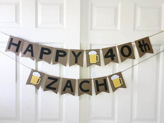 beer birthday banner men beer party decoration personalised etsy