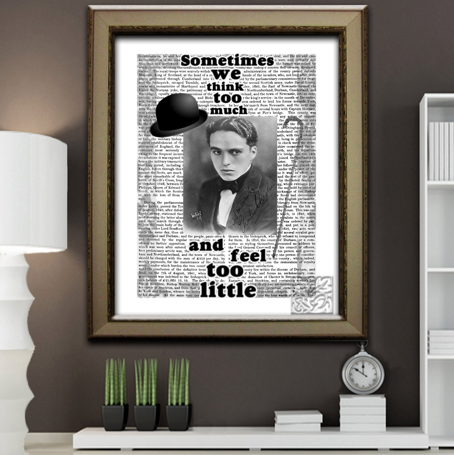 Charlie Chaplin Art Print 'Young Charlie Hat and Stick | Etsy