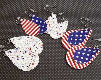 ba3bb1199551e Us flag earrings