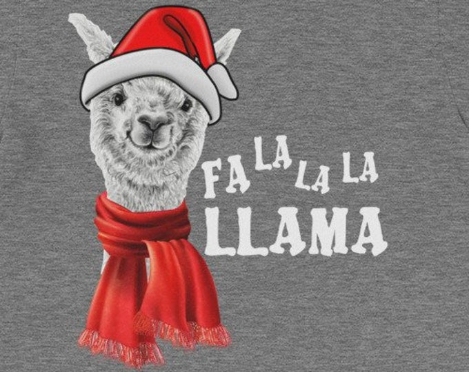 Fa La La La Llama funny Christmas gift idea for family