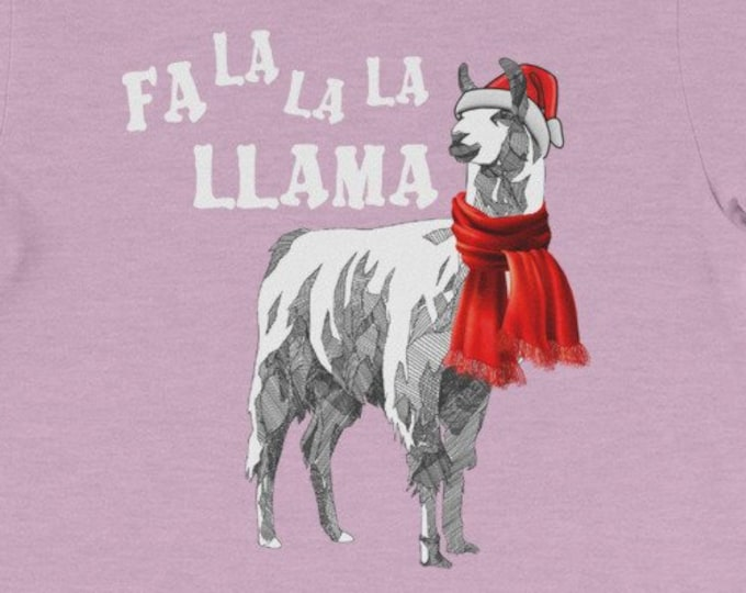 Fa La La La Llama funny christmas gift idea family dad shirt