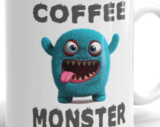 Coffee Monster Mug Funny Sarcastic Humor Adult Offensive Novelty Graphic Gift Idea