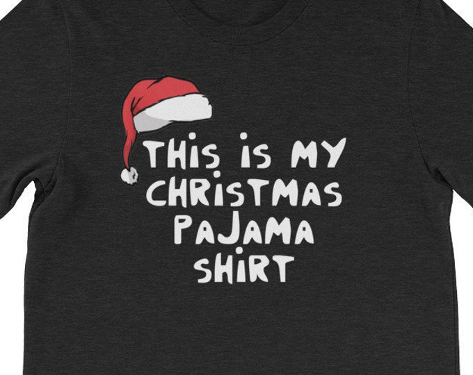 This Is My Christmas Pajama Shirt Funny Christmas Day Gift Dad T Shirts