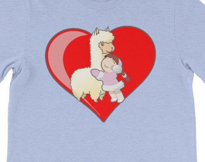 Llama Love Hugs child adult Llama support fun cute tshirt