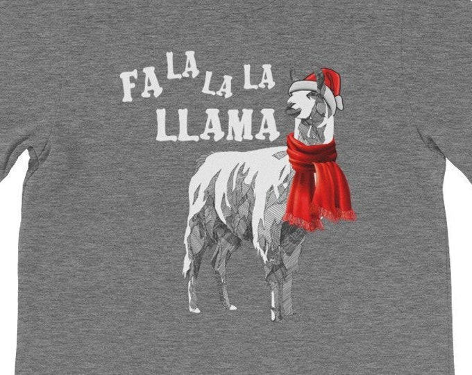 Fa La La La Llama funny christmas gift idea family dad shirt