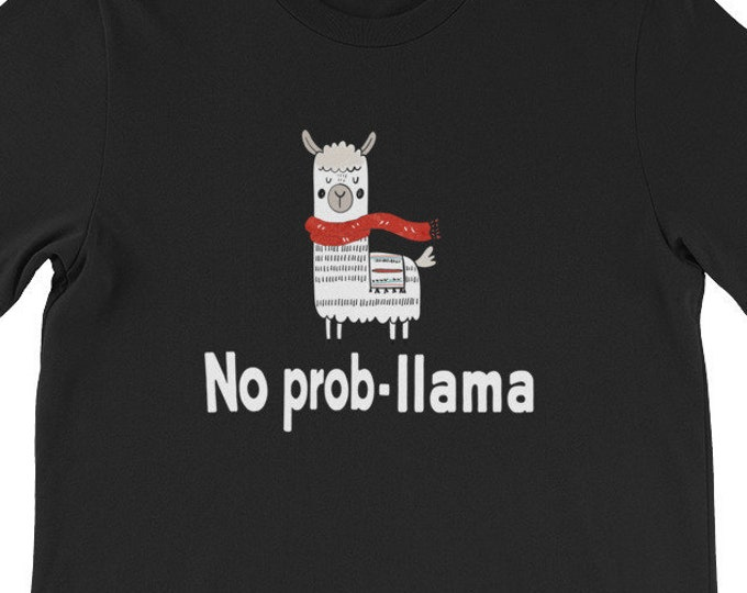 No Prob-Llama Cute Llama & Alpaca Lover christmas family gift T-shirt