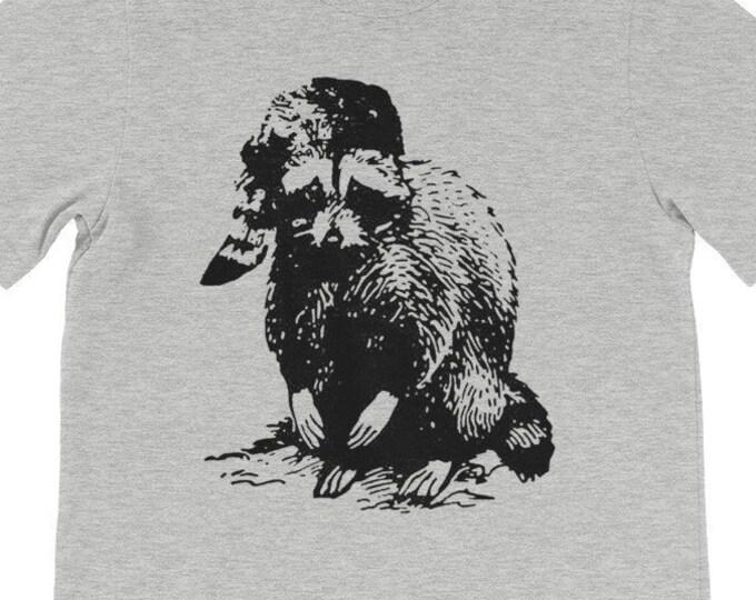 Bad Raccoon Shirt Mens Tshirts Funny Shirts Camping Shirt Womens Graphic Tees Woodland Animals Geeky Gifts Funny Tshirts