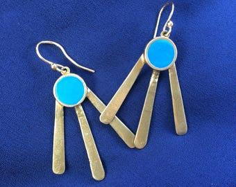 Sun Rays Dangle Earrings