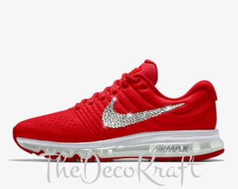 ... Crystals New  cheap 2018 sneaker b8577 622d5 Womens Nike Air Max 2017  iD Red 6fb7908ad31d