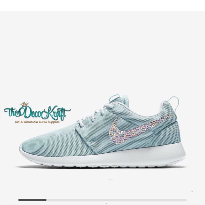 Womens Nike Roshe One Fiberglass White Swarovski AB Crystal  734574102