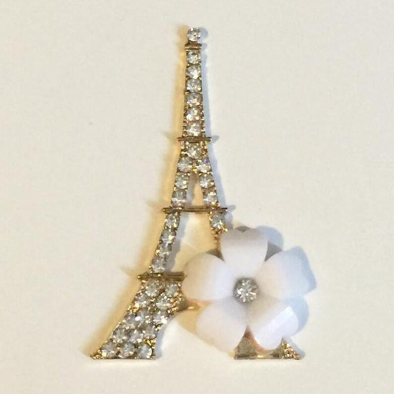 Iron Eiffel Tower Crystal Rhinestone Charms Jewelry Accessories Multi
