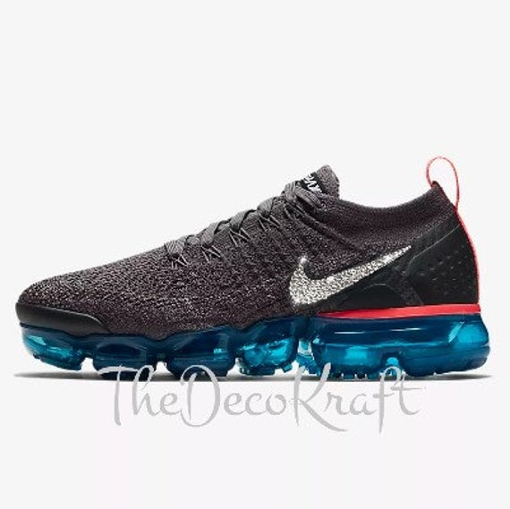ef5ae1723935 Womens Nike Air VaporMax Flyknit 2 Grey Teal Black Custom