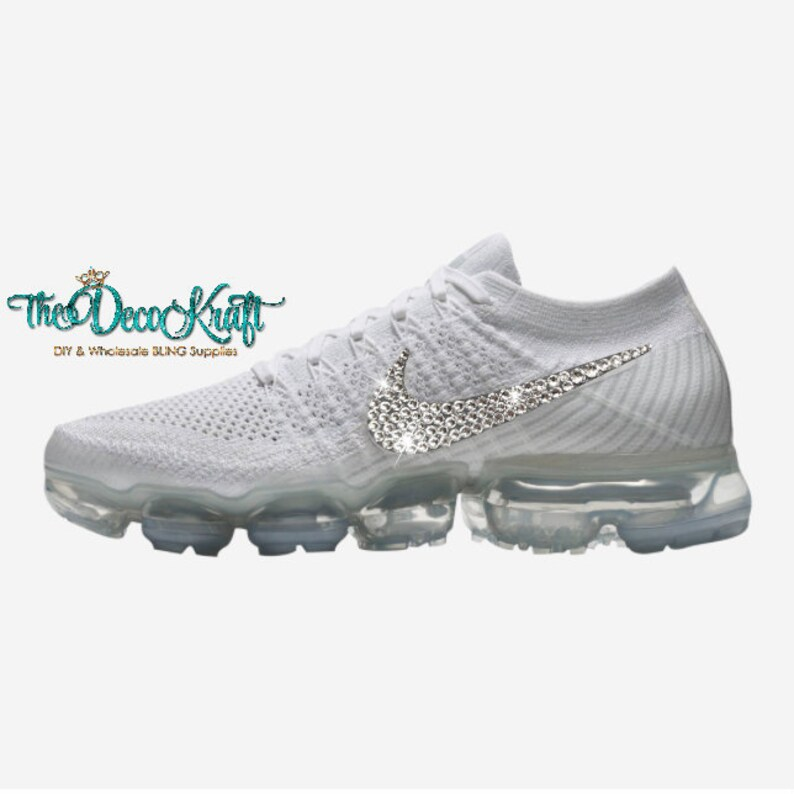 super popular 0fa11 01ac6 Womens Nike Air VaporMax Pure Platinum White Wolf Grey Custom   Etsy