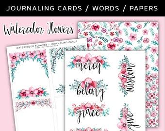 "Soul Inspired - ""Flowers"" Watercolor Printable - digital download"