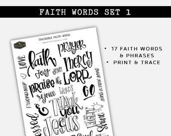 Soul Inspired - Traceable  Faith Words 1 Set - digital download