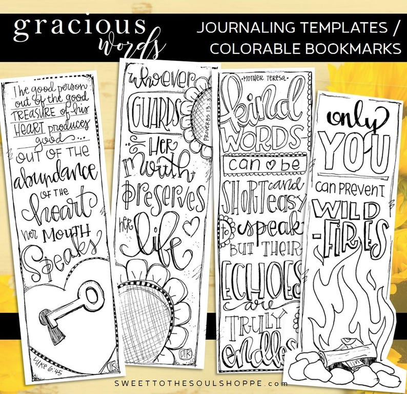 Soul Inspired  Bible Journaling Template / Color your own image 0