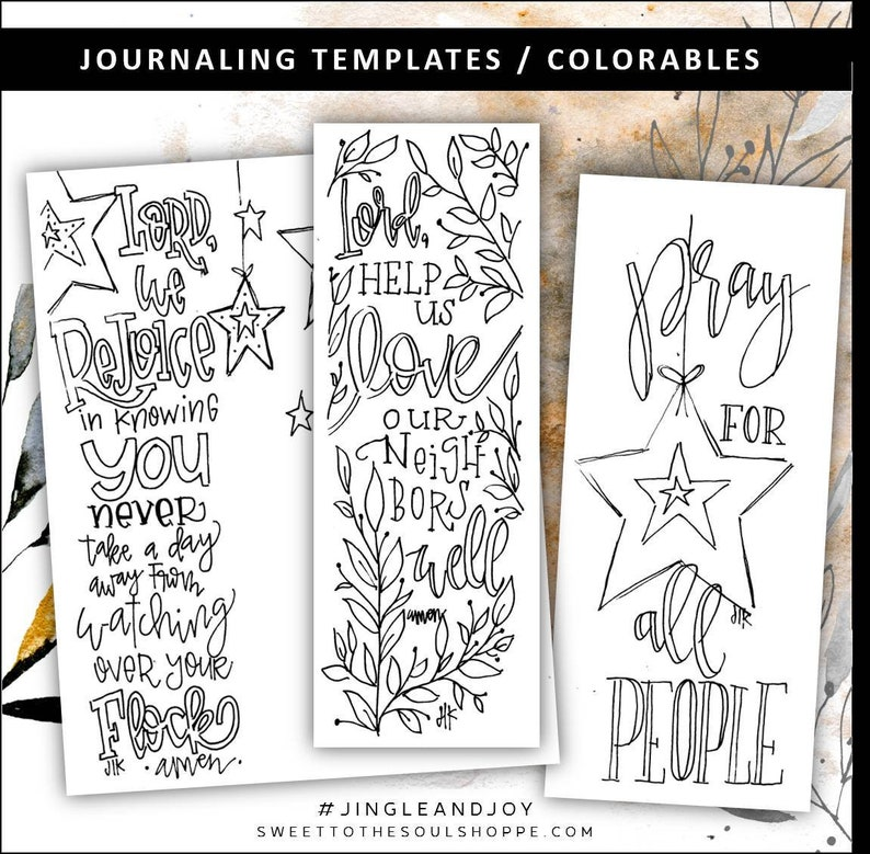 Soul Inspired  jINGLE AND JOY Bible Journaling Template / image 0