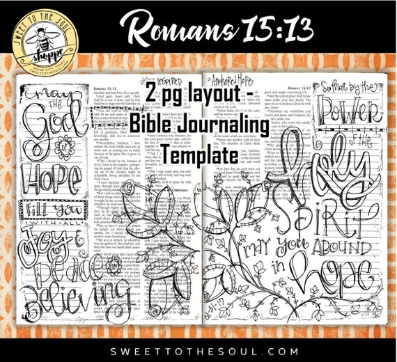 Romans Bible Journaling Art