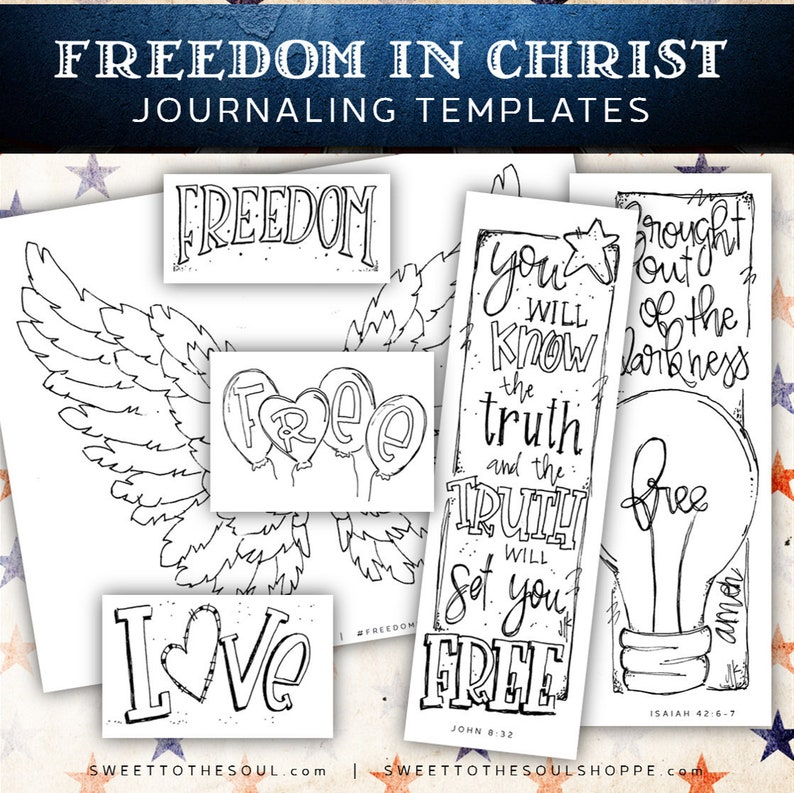 Soul Inspired - 'Freedom in Christ' Journaling Templages - digital download