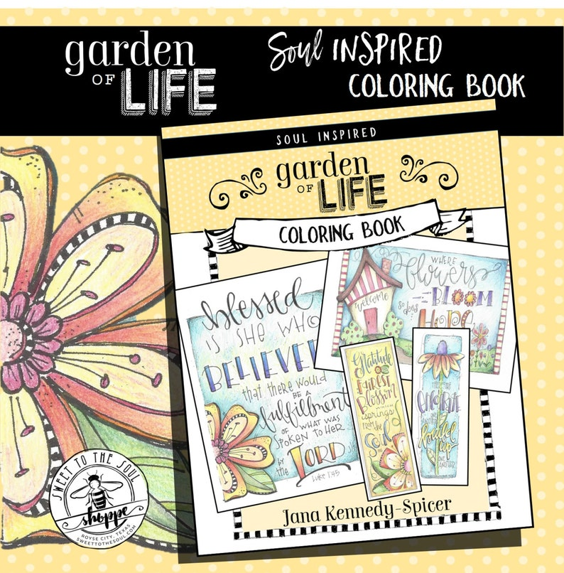 Soul Inspired Color Book  Garden of Life  image 0